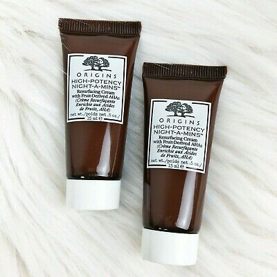 2x Origins High Potency Night-A-Mins Mineral Enriched Renewal Cream 30 mL Total