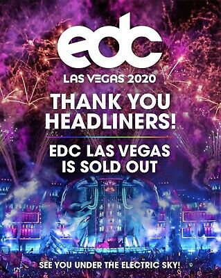 Las Vegas EDC 2020 VIP Tickets (Electric Daisy Carnival) 3 Days