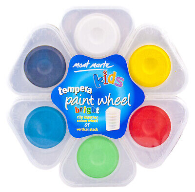 Kids Tempera Paint Wheel Bright and Pastel colours - 2pk