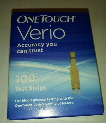 One Touch Verio Test Strips 100 Count Exp: 02/20+ Imperfect box Free Shipping