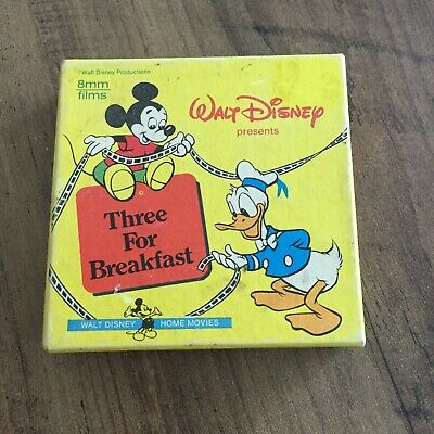 "Walt Disney 8mm Cartoon Film ""Three For Breakfast"""