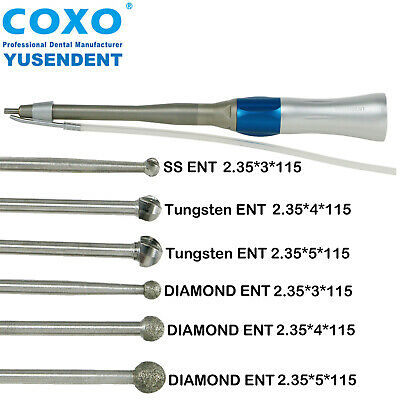 COXO Dental Low Speed Surgery Surgical Straight Implant Handpiece CX235-2S2 Burs