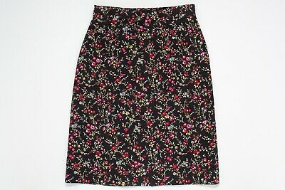 Princess Highway Womens Skirt Size 6 Black Floral Excellent Condition