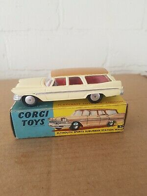 Corgi boîte box repro 219 plymouth sports suburban station wagon