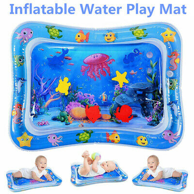 Inflatable Water Play Mat Infants Baby Toddlers Kid Perfect Fun Tummy Time PlayK