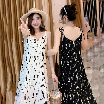 Women Dress Summer Sling Casual Fashion Party Dress Holiday Maxi A-Line