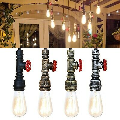 Water pipe Steam punk industrial vintage style Ceiling pendant light valve E27
