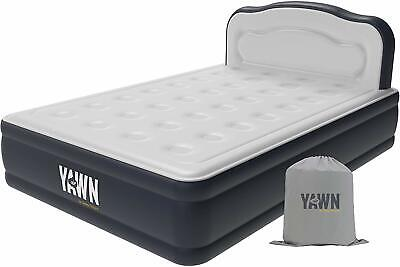 Sleep Origins, Yawn Air Bed Size Self-Inflating Airbed With Built-In Pump, Headb