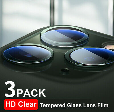 3Pcs Tempered Glass Camera Lens Screen Film Protector for iPhone 11 Pro Max XR X