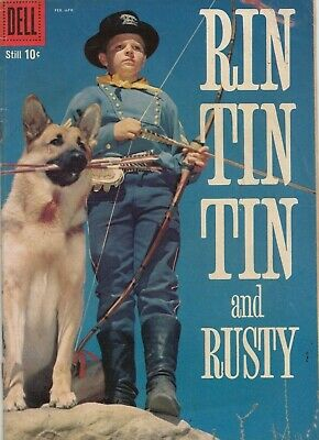 Rin Tin Tin And Rusty #29 1959 Graded Vg Silver Dell Comics