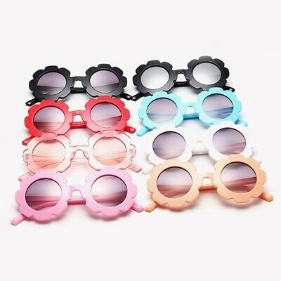 Sun flower kid sunglasses baby sunglasses round frame flower petals glass DyNs