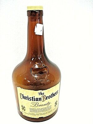 Vintage Christian Brothers Brandy Super Large Bottle With Lid Half Gallon