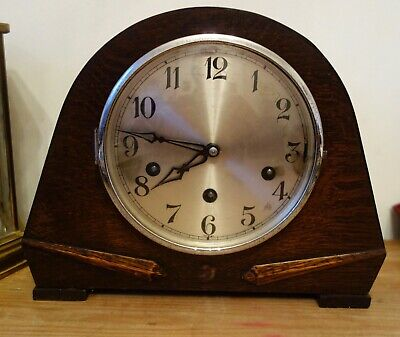 Art Deco Westminster Chime Chiming Mantel Clock - Running