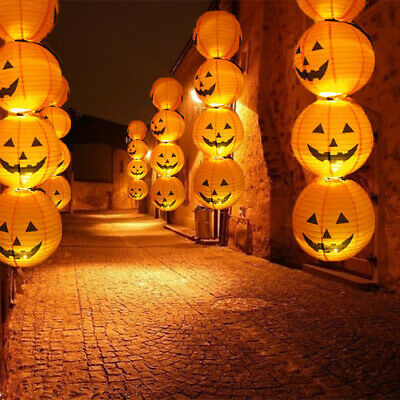 Halloween Pumpkin String Fairy LED Lights Party Decor Outdoor Hanging Prop Lamp