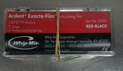 """Ardent™ Exacta-Film articulating film (75 SHEETS) .00075""""/ 19 MICRONS RED/BLACK"""