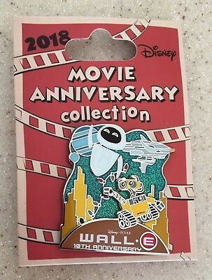 Disney Cast Exclusive Pixar 10th Anniversary Wall E Pin LE500 Eve