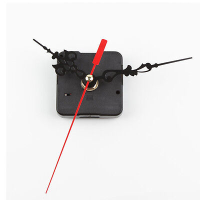 Chic Black Quartz Clock Movement Mechanism Repair DIY Tool Kit + Red Hand DyNs