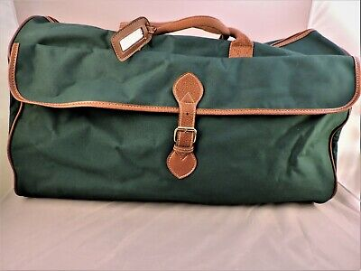 "POLO Ralph Lauren Canvas Weekender/Carry-On Bag - 22"" - Hunter Green - New"