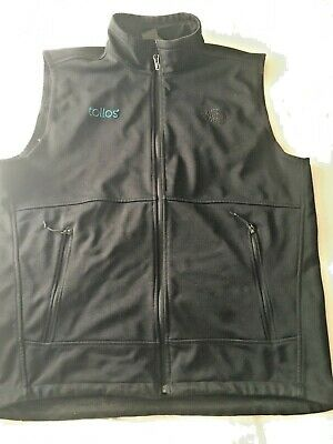 The North Face Vest Mens Size Large Polyester Zipped Black Blue Logo