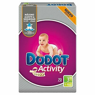DODOT Activity pañales 5-10 kgs talla 3 paquete 70 uds