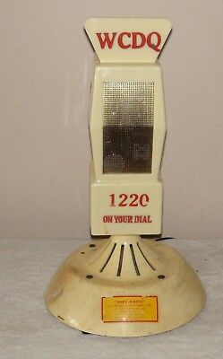 "Vintage ""Mike Radio""  Microphone Shape Working Sports Fans"