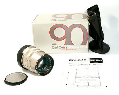 Carl Zeiss Sonnar T 90mm f2.8 Lens, Contax G mount, Original Box, Hardly Used