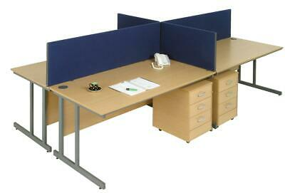 Trexus 1600 Desktop Screen with Easy-fit Clamps W1600xH400mm Royal - 671121