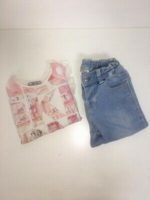 Mayoral Girl Top And Jeans Set 2 Years Old