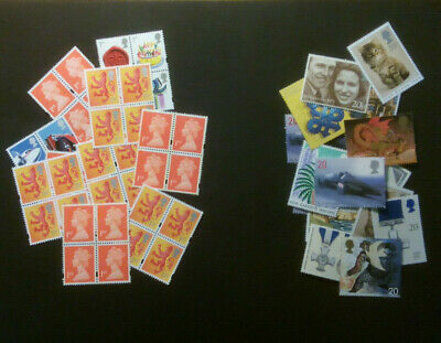 100 x 2nd Class Small Parcel £3 Mint 5 Stamp Combination £300 Face Value £70 OFF