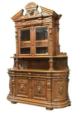Antique Sideboard, French Renaissance,Carved Walnut, Amazing Piece,19th C.,1800s