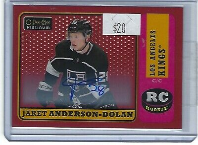 Jaret Anderson-Dolan 2018-19 Opc Platinum Retro Red Auto Group C 1:201 Rookie