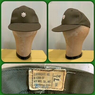 60s 70s OG Hot Weather FIELD CAP US ARMY 7 1/4 Hat Baseball LIEUTENANT Colonel