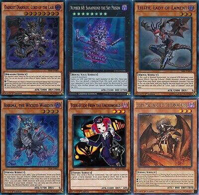 Yugioh Lair of Darkness 2019 Deck - Darkest Diabolos - Lilith - 55 Cards