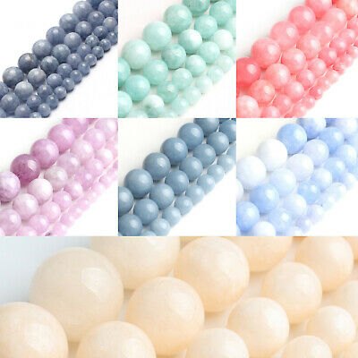 hot Wholesale Natural Angelite Stone Gemstone Round Spacer Loose Beads new