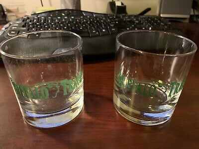 Set Of 2 Vintage Buffalo Trace Distillery Rocks Bourbon Whiskey Glasses 3.75""