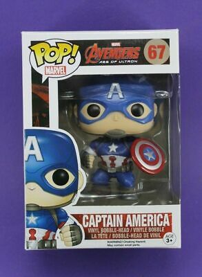 Original FUNKO POP MARVEL AVENGERS 2 AGE OF ULTRON #67 CAPTAIN AMERICA 🚀🎯