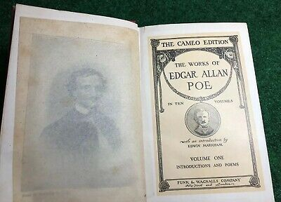 ANTIQUE 1904 THE CAMEO EDITION THE WORKS OF EDGAR ALLAN POE VOLUME 1 One