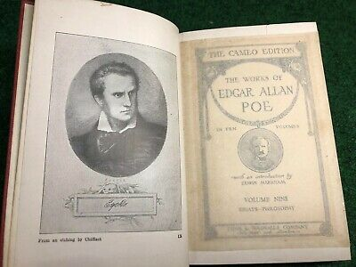 ANTIQUE 1904 THE CAMEO EDITION THE WORKS OF EDGAR ALLAN POE VOLUME 9 Nine