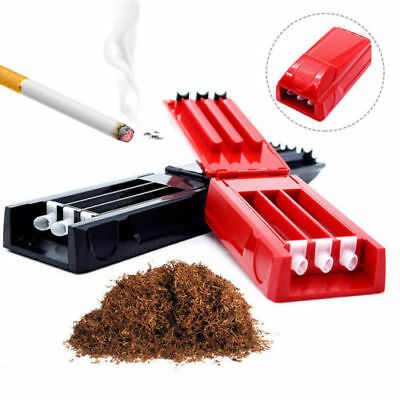 Cigarette Maker Rolling Machine Automatic Injector 3 Tubes 80mm Manual Roller