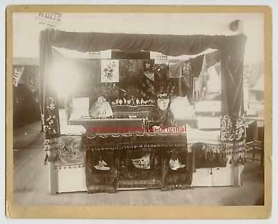 1800s EXPO BOOTH - WHITE SEWING MACHINE FOLK ART - 8x10 CABINET CARD PHOTOGRAPH