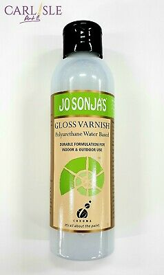Jo Sonja's Polyurethane Gloss Varnish 250ml Durable Indoor & Outdoor Use