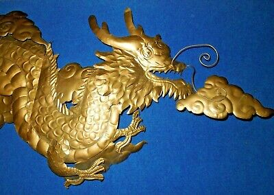 "20/""X17/"" Large dragon sign for man-cave Metal Wall Art Decor garage shop"