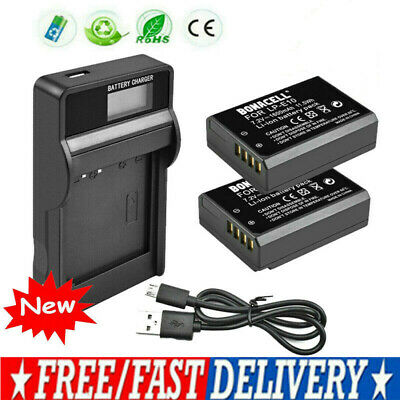 2x LP-E10 Replace Battery + LCD Charger For Canon EOS Rebel T3 T5 1100D Kiss X50