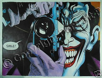 "Batman Joker Oil Painting Art DC Comics Hand-Painted NOT a Print Poster 24""x32"""