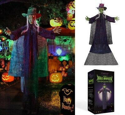 73'' Hanging Psychic Witch Prop Light Up Halloween Party Decoration Scary Horror