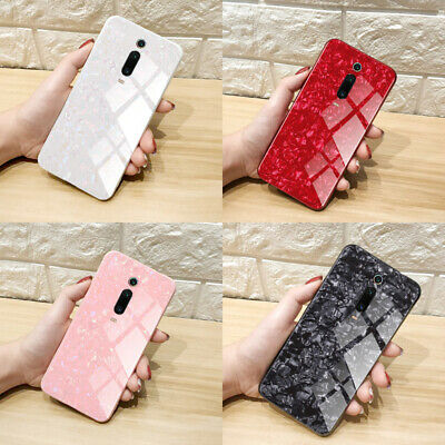 For Xiaomi Mi 9T Pro 9 SE 8 Lite Luxury Marble Tempered Glass Phone Case Cover