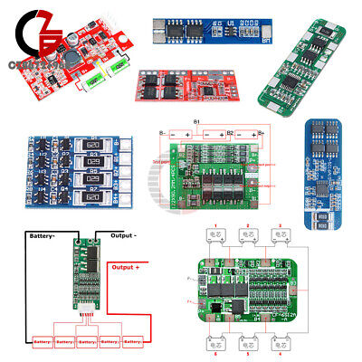 2S/3S/4S/5S/6S Li-ion Lithium 18650 Battery BMS Charger PCB Protection Board