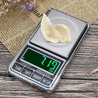 100-500g 0.01g Digital Pocket Weigh Scale Kitchen Gram Jewelry USB Charging