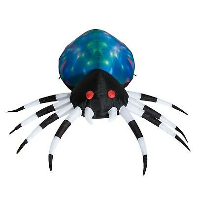 5 Ft Inflatable Lighted Giant Scary Spider Halloween Outdoor Airblown Decoration