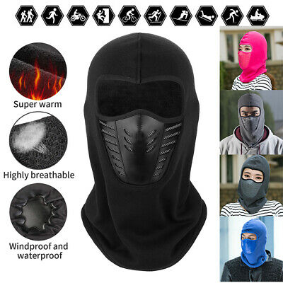 Unisex Winter Warm Snood Full Face Mask Neck Motorcycle Cycling Ski Hat Thermal